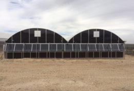 Black polycarbonate greenhouse