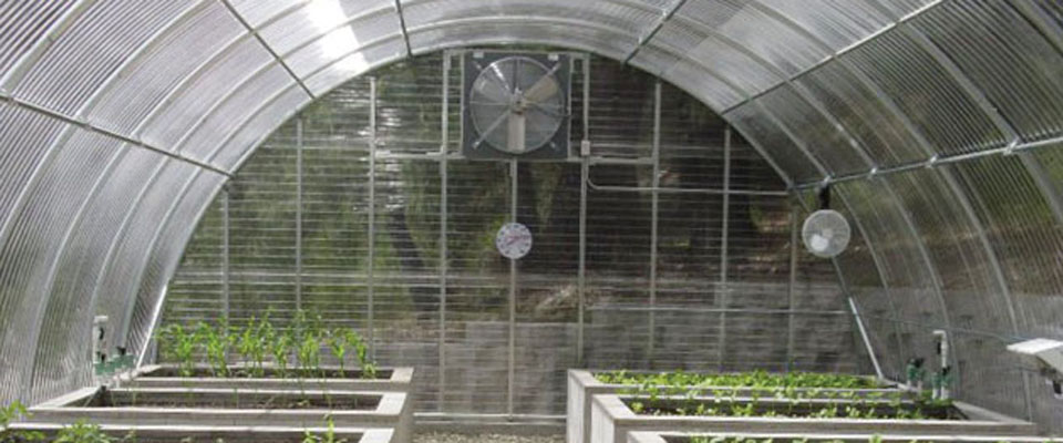 corrugated polycarbonate greenhouses