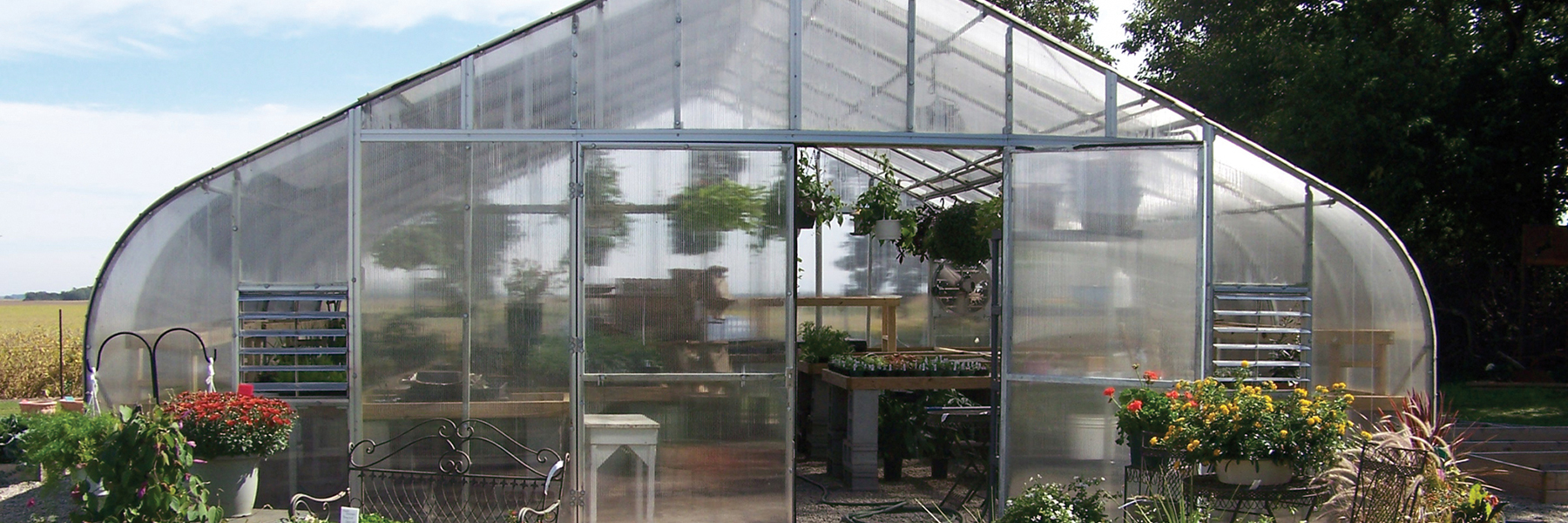 backyard flower greenhouse
