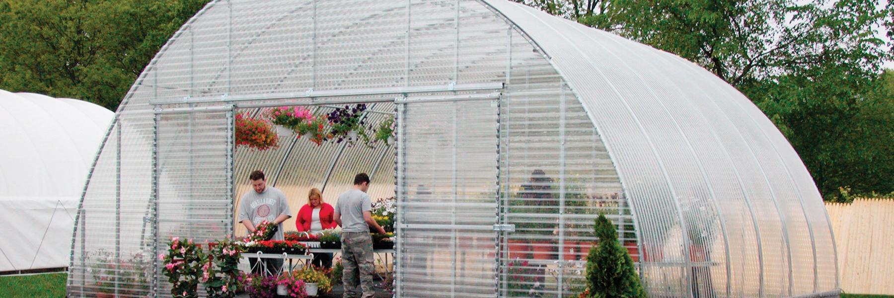 Round premium greenhouse